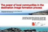 The power of local communities in the destination image formation process
