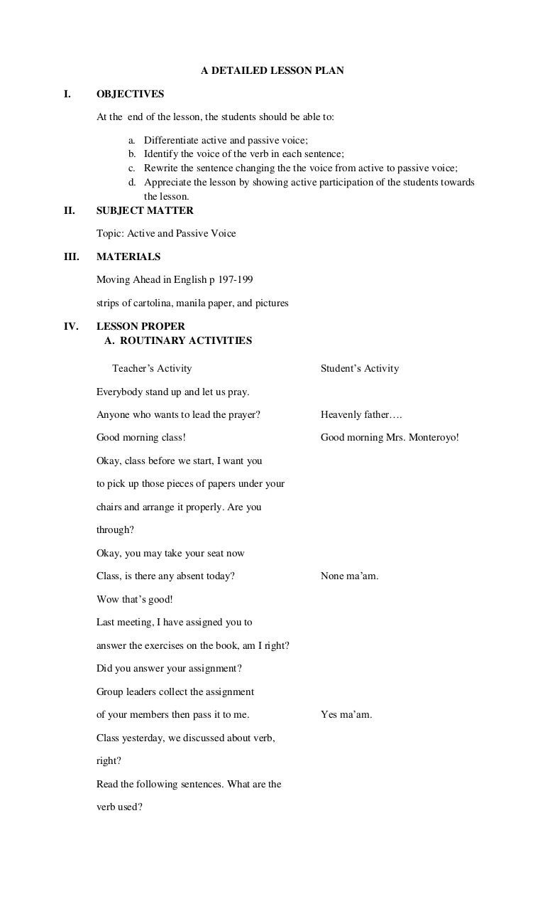 worksheet Point Of View Worksheets For Middle School lesson plan in active and passive detailed passive