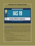 Details about IAS 19 Employee Benefits