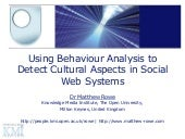 Using Behaviour Analysis to Detect Cultural Aspects in Social Web Systems