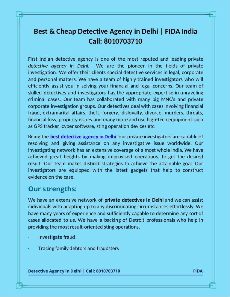 Detective agency in delhi call- 8010703710