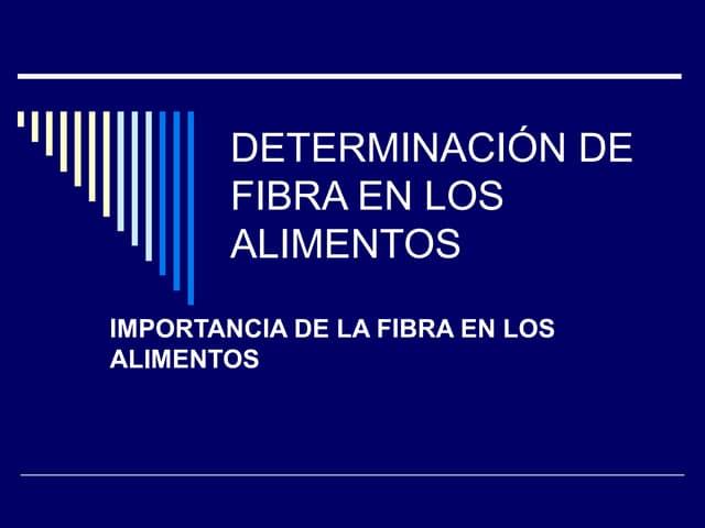 Determinacion de fibra cruda en alimentos pdf995