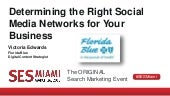 Determining the Right Social Media Network for Your Business