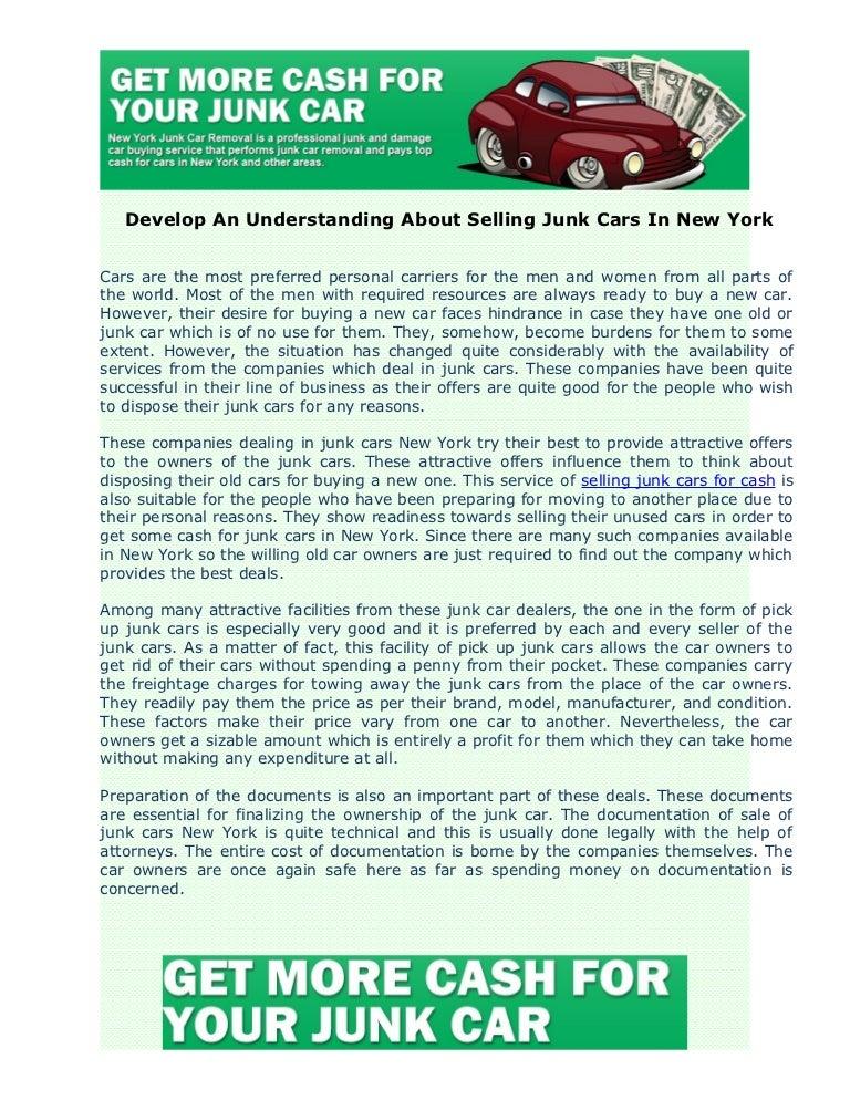 Develop an understanding about junk cars in new york