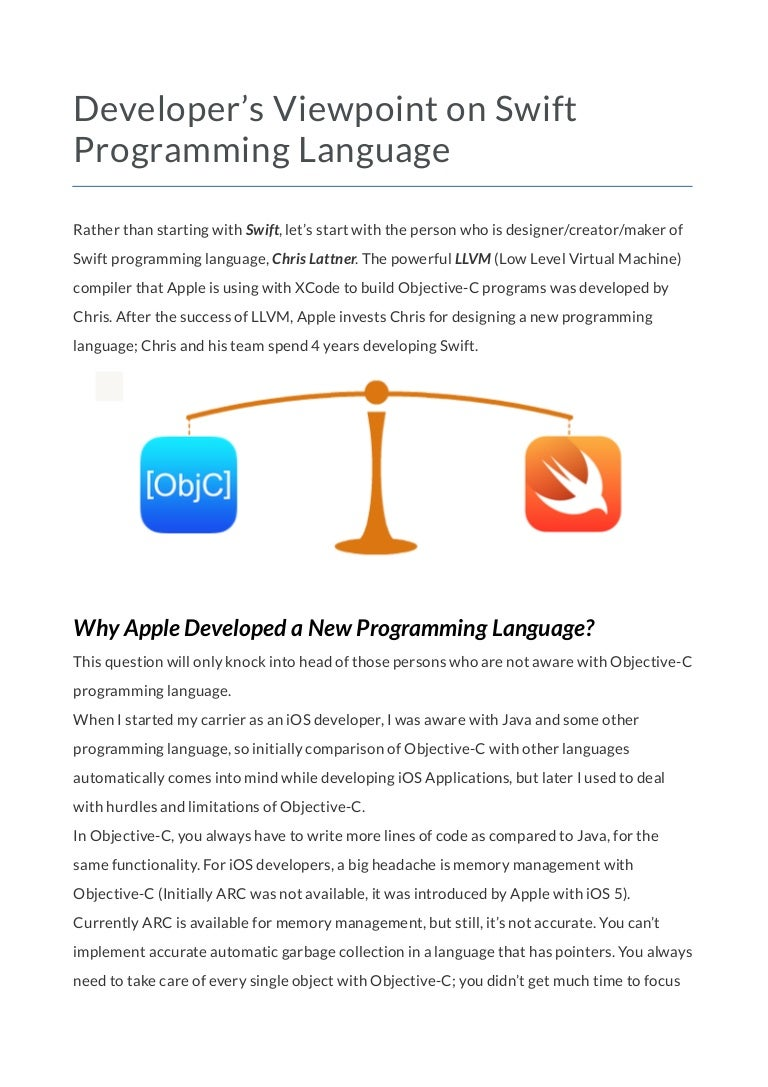 Developers viewpoint on swift programming language baditri Image collections