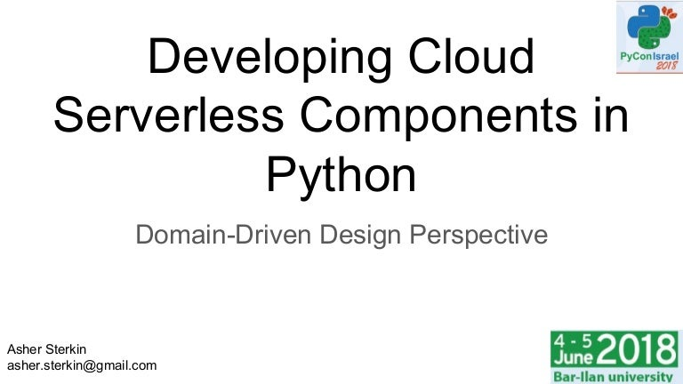 Developing cloud serverless components in Python: DDD Perspective