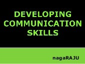 Developing Communication Skills 13082019