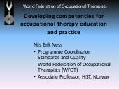 Developing competencies for occupational therapy education and practice