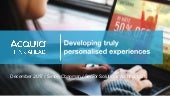 Developing truly personalised experiences