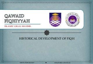 Development of Fiqh