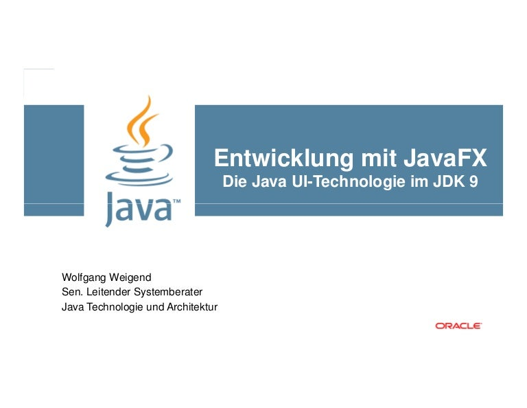 Development with JavaFX 9 in JDK 9 0 1
