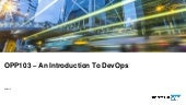 SAP TechEd 2018 OPP103 – An Introduction to DevOps