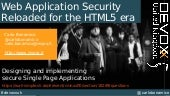 Web Application Security Reloaded for the HTML5 era