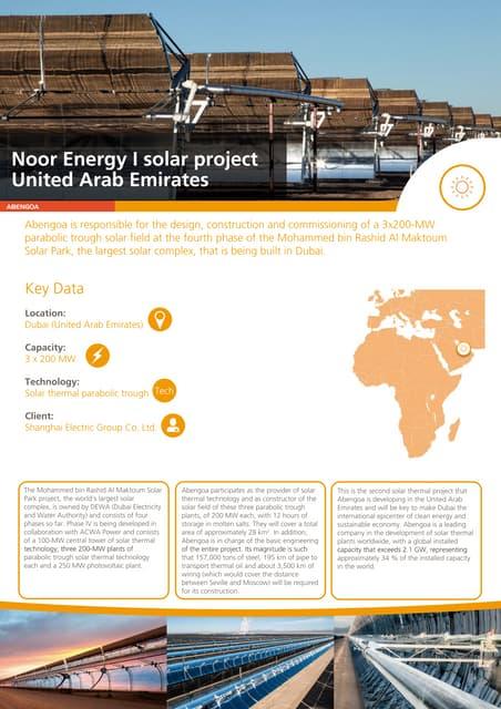 Noor Energy I solar project