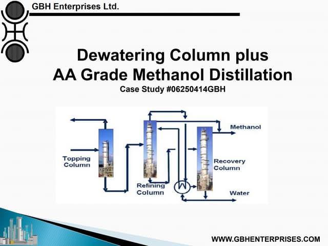 Dewatering Column plus  AA Grade Methanol Distillation