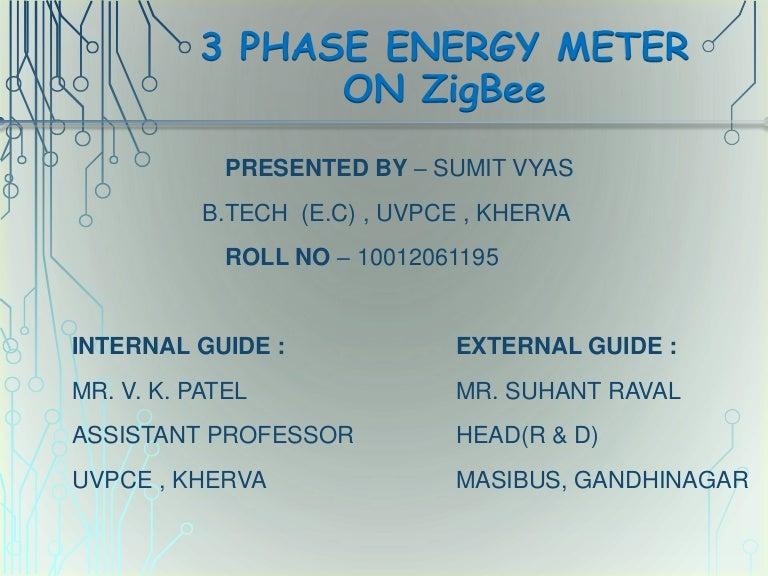 3 phase energy meter on Zigbee1