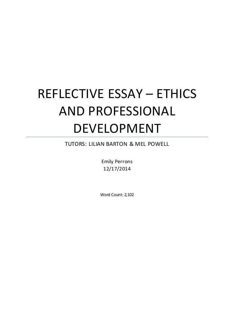 personal ethics and proffesional development assignment