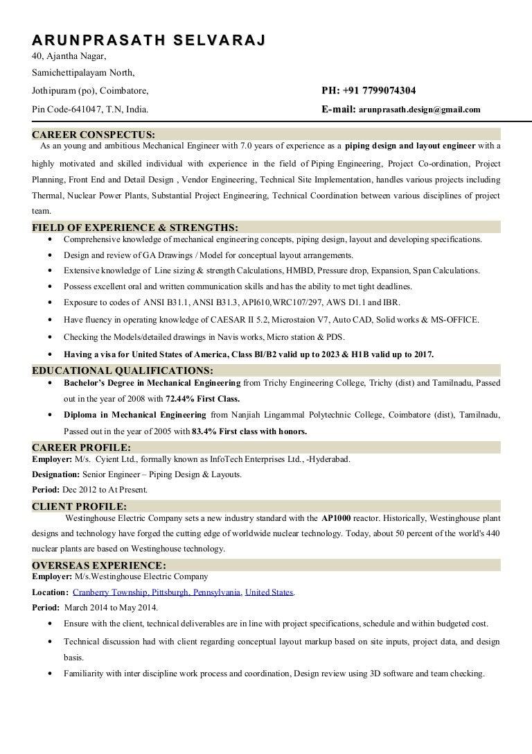 Resumepipingdesign Piping Layout Concepts