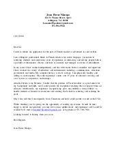 Cover Letter French Teacher