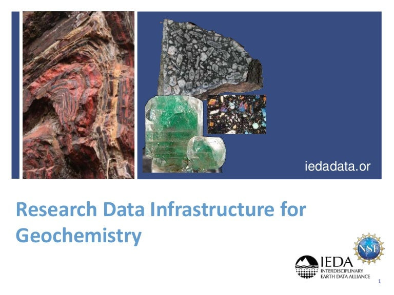 Research Data Infrastructure for Geochemistry (DFG Roundtable)