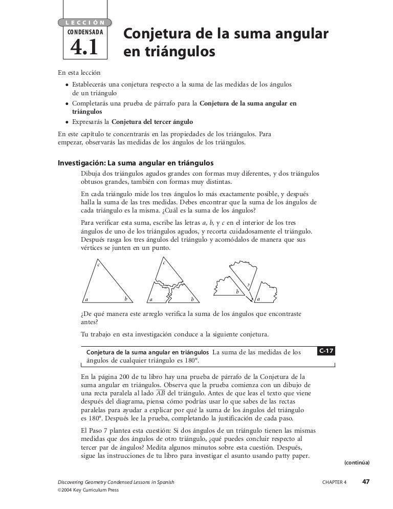 Conjetura de la suma angular en triángulos