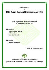 D g cement internship report