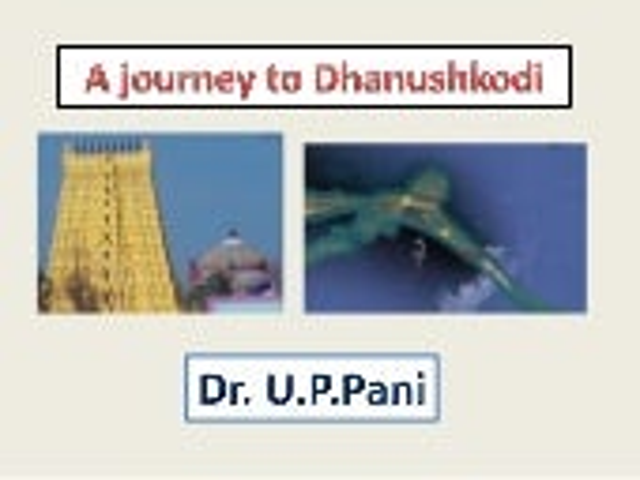 Journey to Dhanuskodi