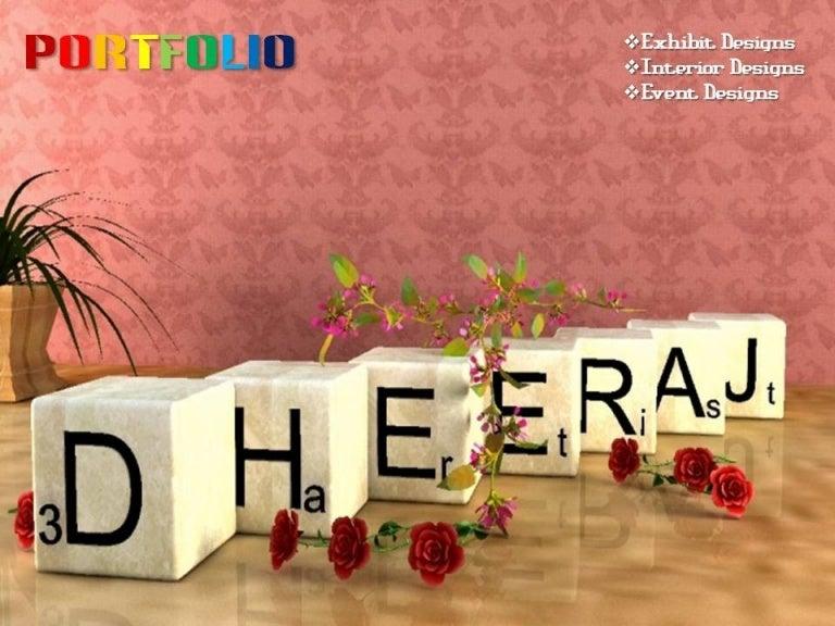 dhiraj 3d name