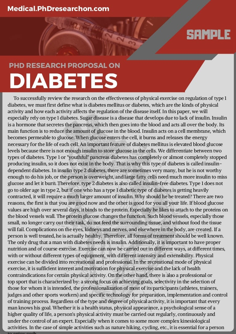 Diabetes phd thesis
