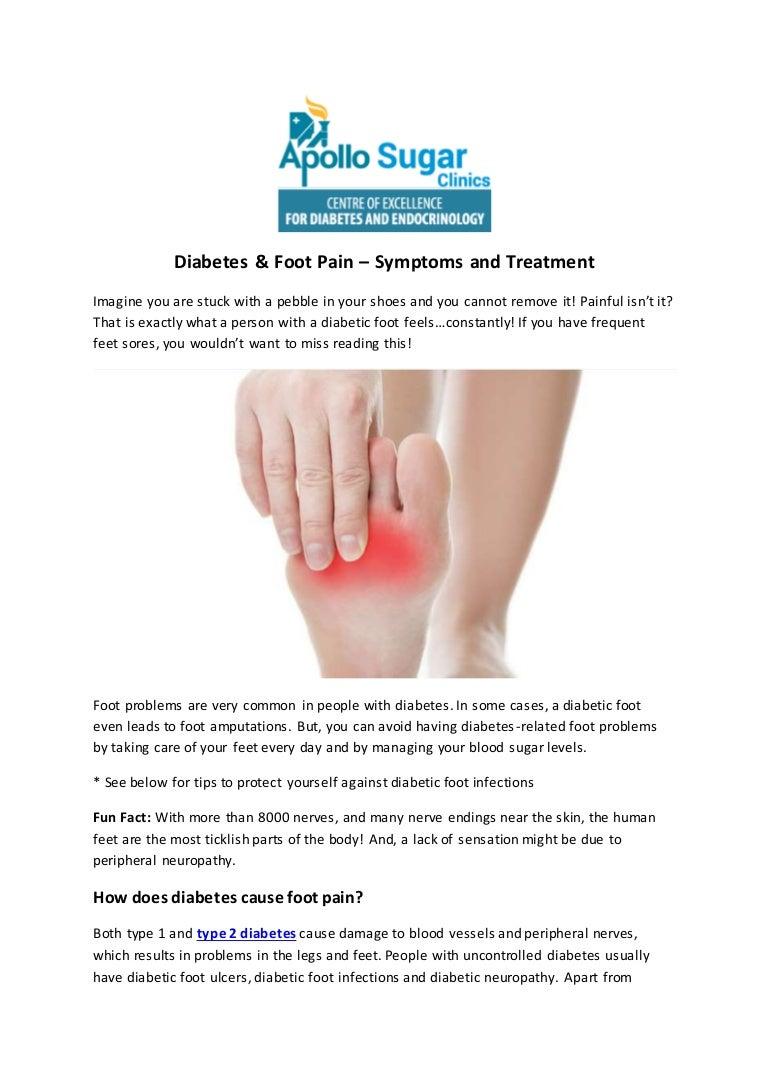 Diabetes Foot Pain Symptoms And Treatment
