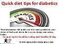 Quick diet tips for diabetics