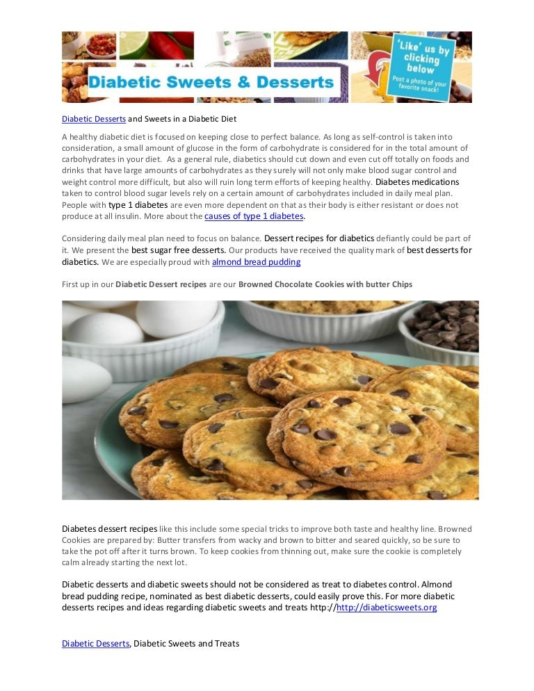 Diabetic Desserts And Sweets In A Diabetic Diet