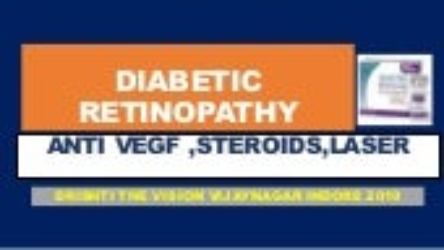 Diabetic retinopathy management