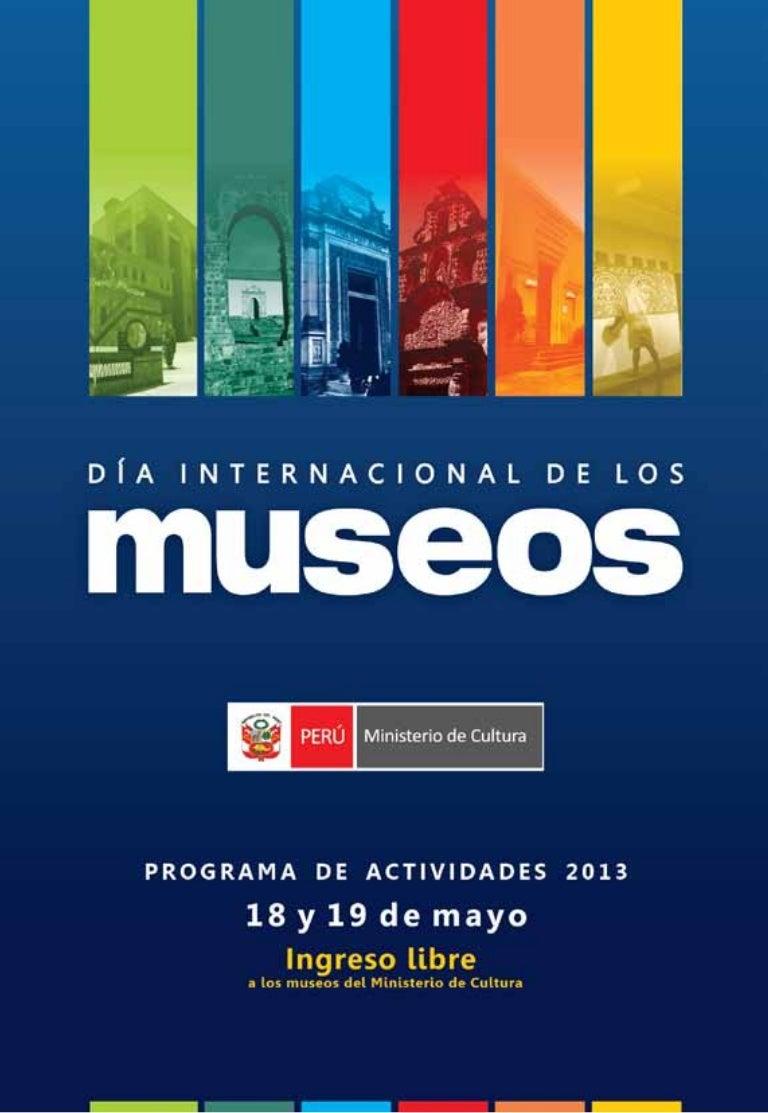 Cronograma de actividades del Día Internacional de los Museos