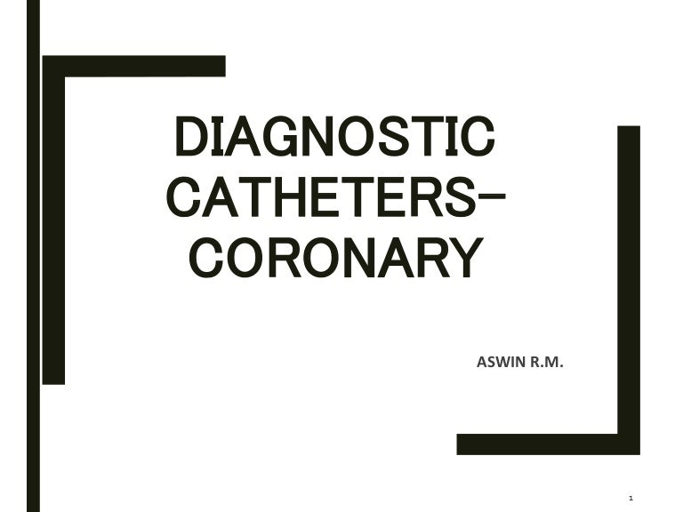 Diagnostic catheters for coronary angiography
