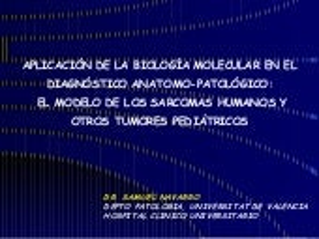 DiagnóStico Molecular De Los Sarcomas De Partes Blandas