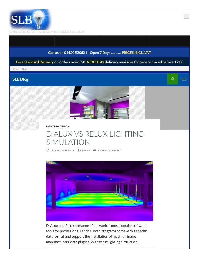Dialux Vs Relux Lighting Simulation
