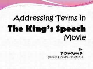 addressing a king