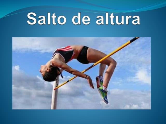 Diapositiva de atletismo ii salto de altura