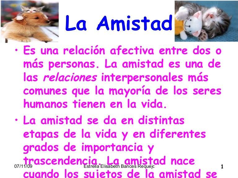 Diapositiva De La Amistad