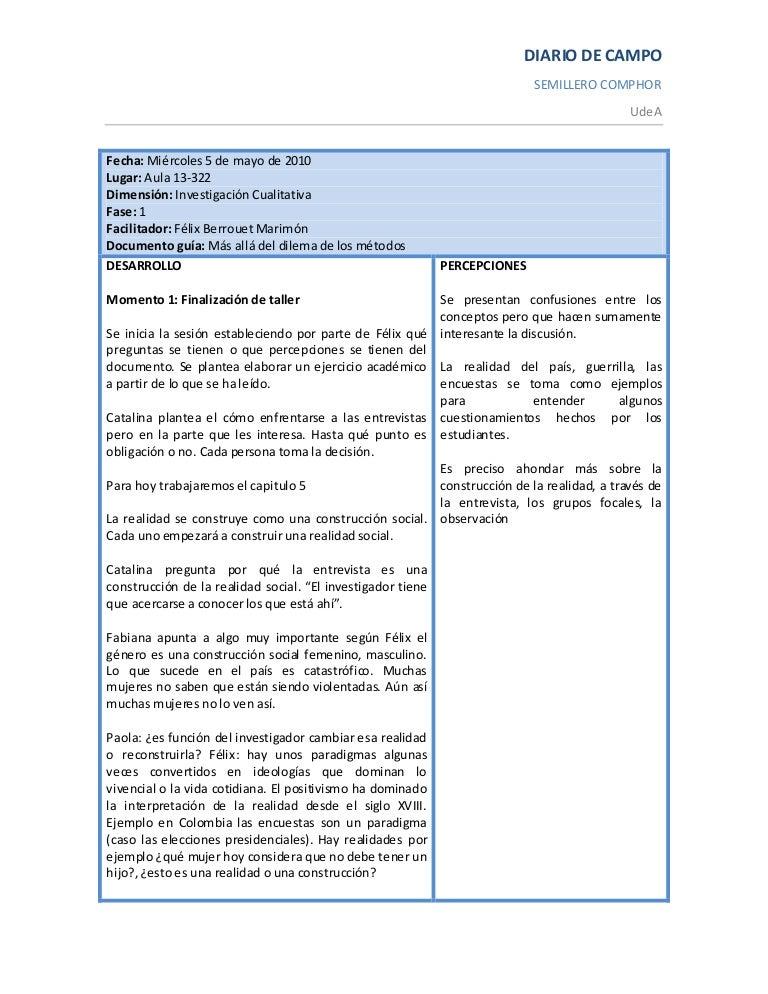 Diario de campo sesi n 5 mayo de 2010 - Como vallar un campo ...