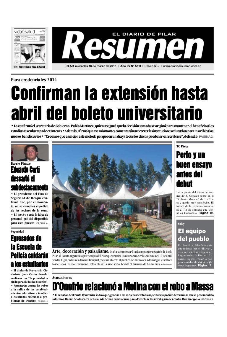 Diario Resumen 20150318