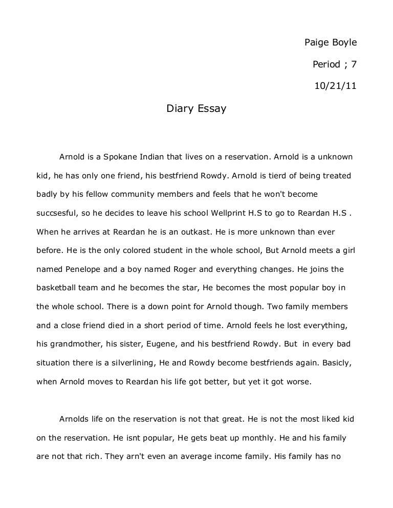 diary essay paigeboyle