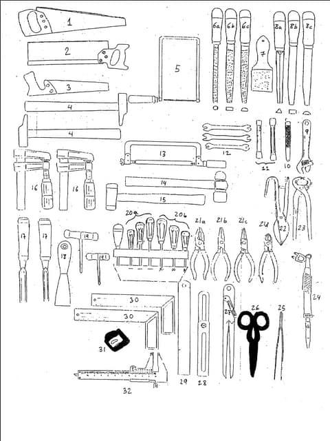 Herramientas básicas manuales