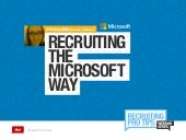 Recruiting the Microsoft Way