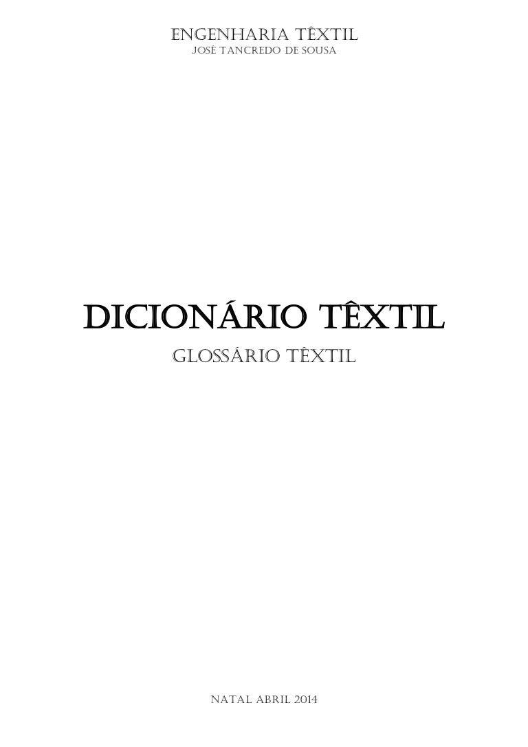 e09126bd3a3d Dicionário textil