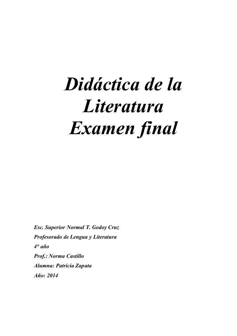 Planificación anual y secuencia didáctica Literatura