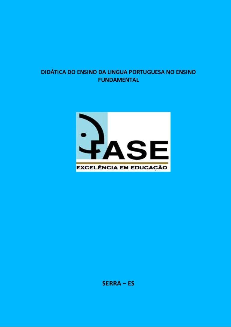 Didatica do ensino de portugues no ef cd8dc11c9001d