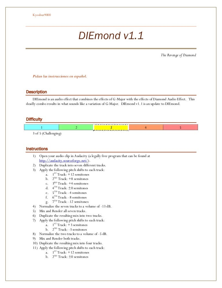 Diamond G Major