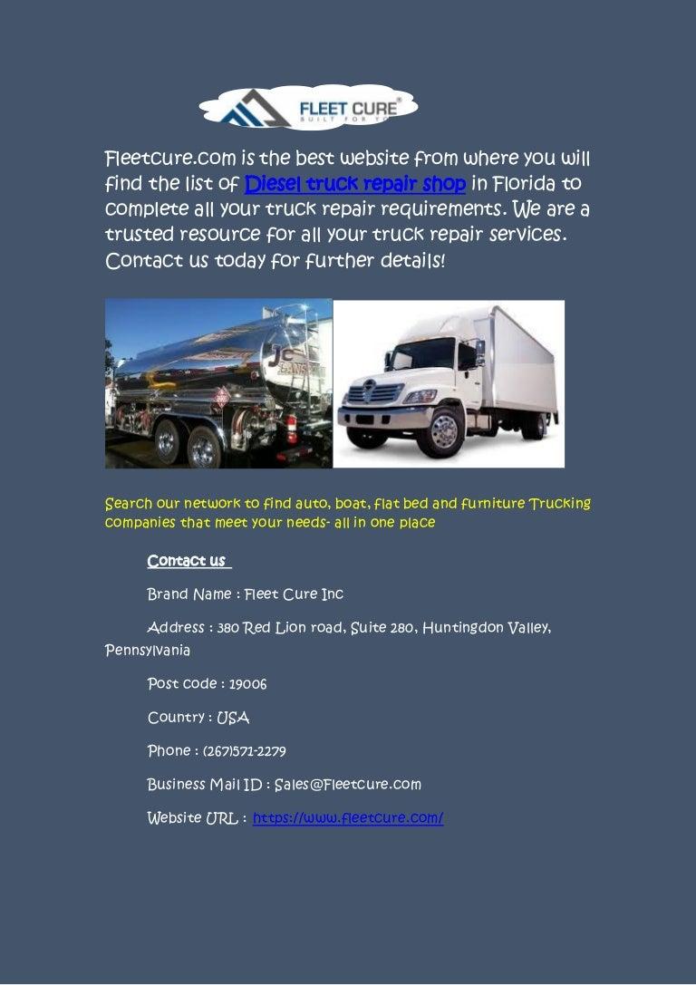 Truck Service Near Me >> Truck Repair Service Near Me At Fleetcure Com